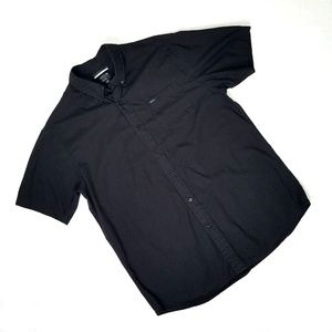 RVCA Black Short Sleeve Button Down Shirt